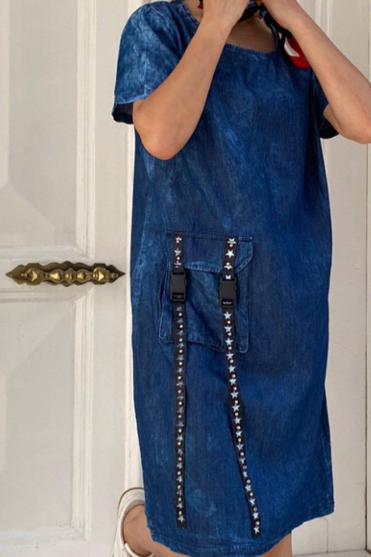Cep Detay Kot Elbise