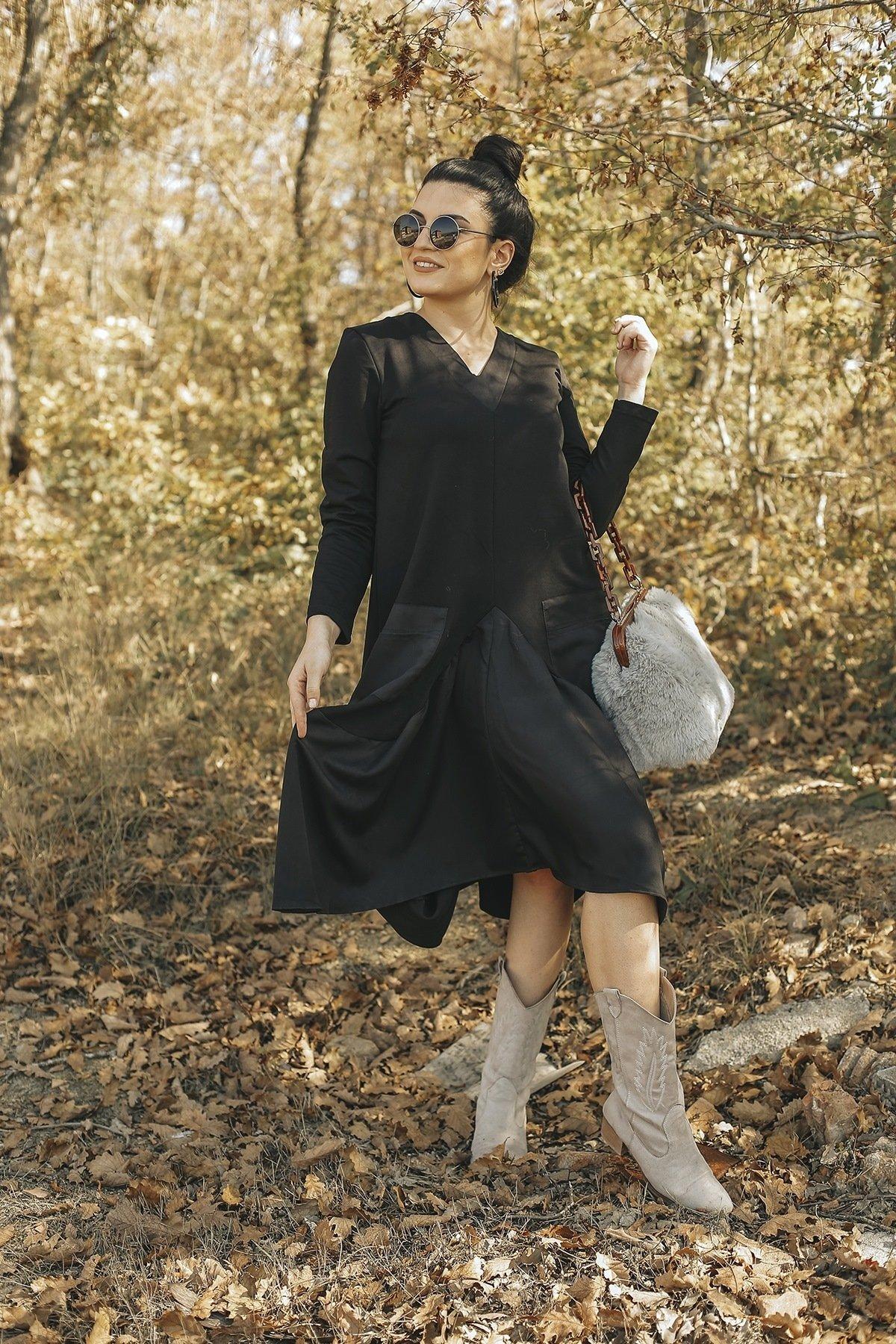 Cepli V Yaka Elbise