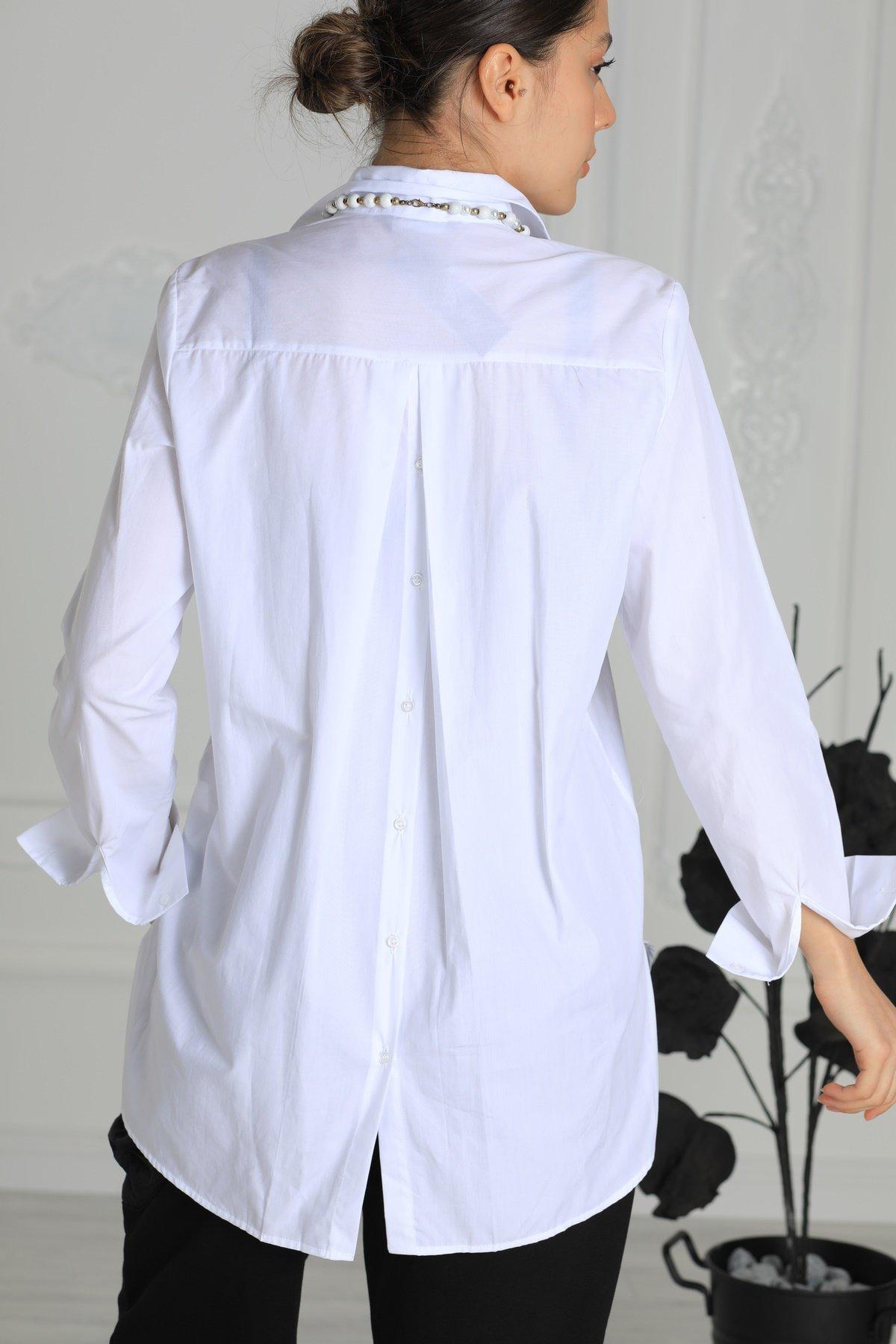 Arka Düğmeli Gömlek