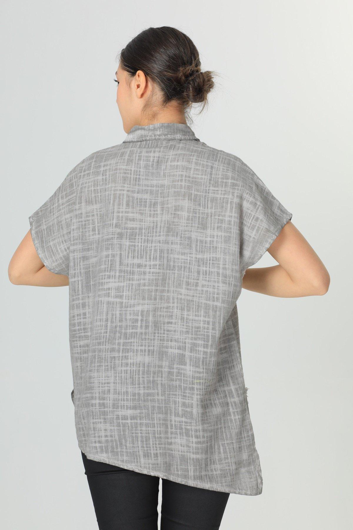 İşlemeli Patlı  Gömlek