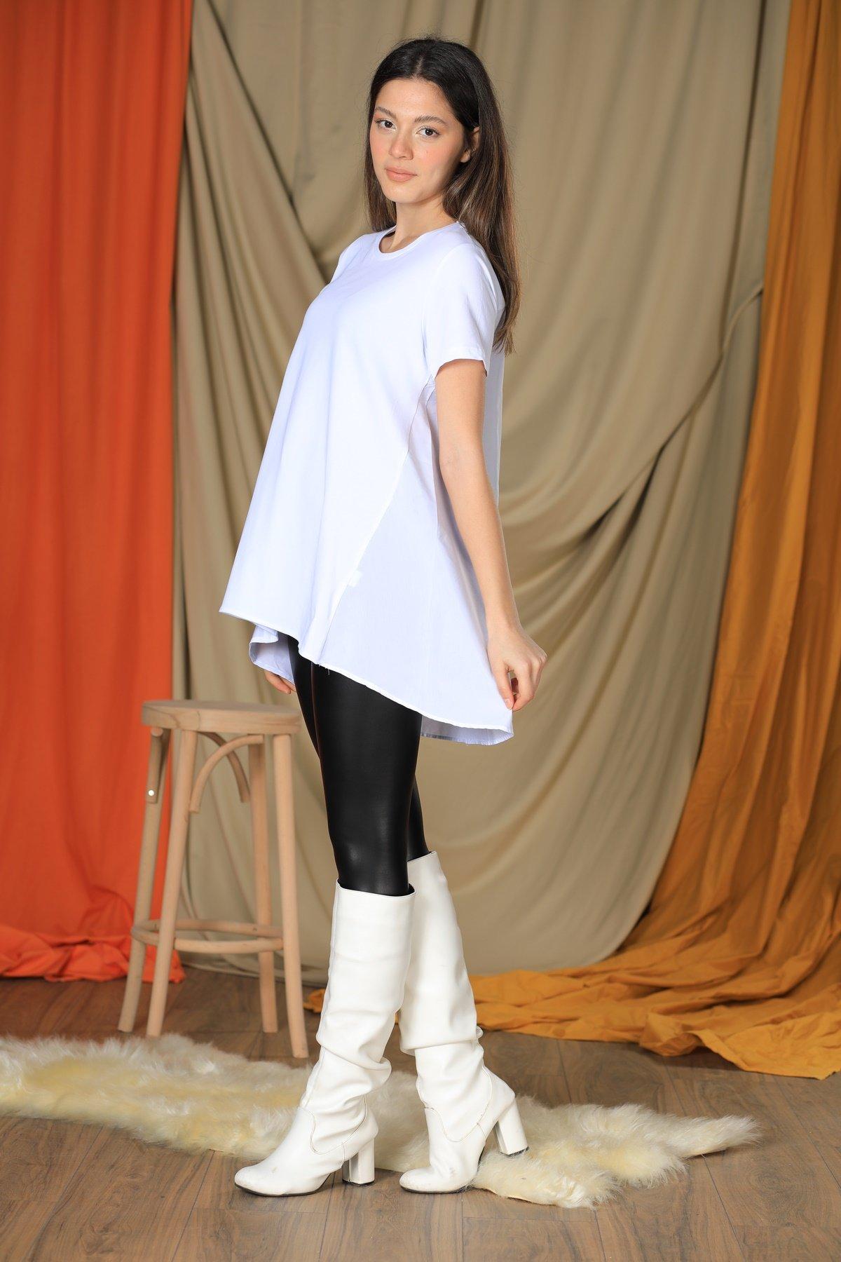 Arka Gömlekli Bluz