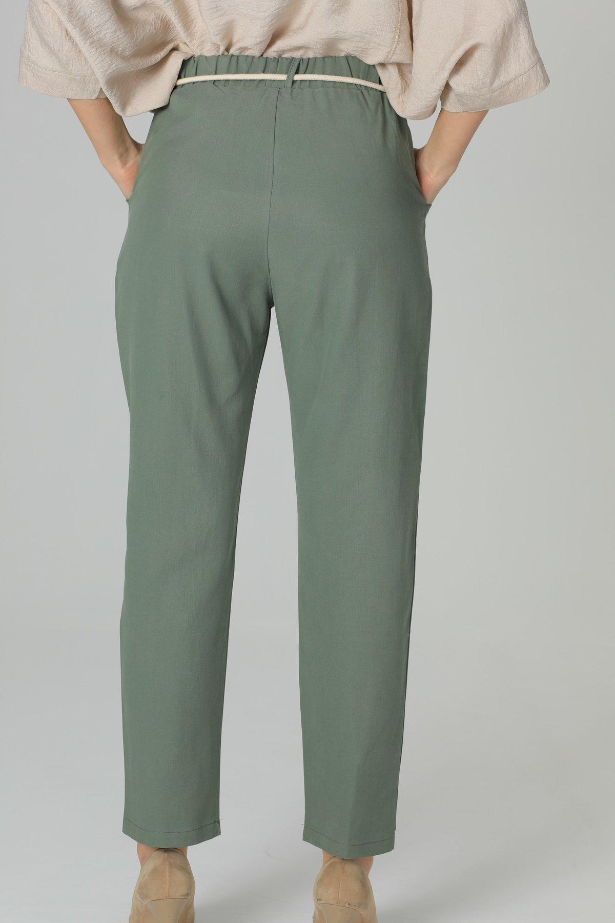 Cepli Bel Lastikli Pantolon