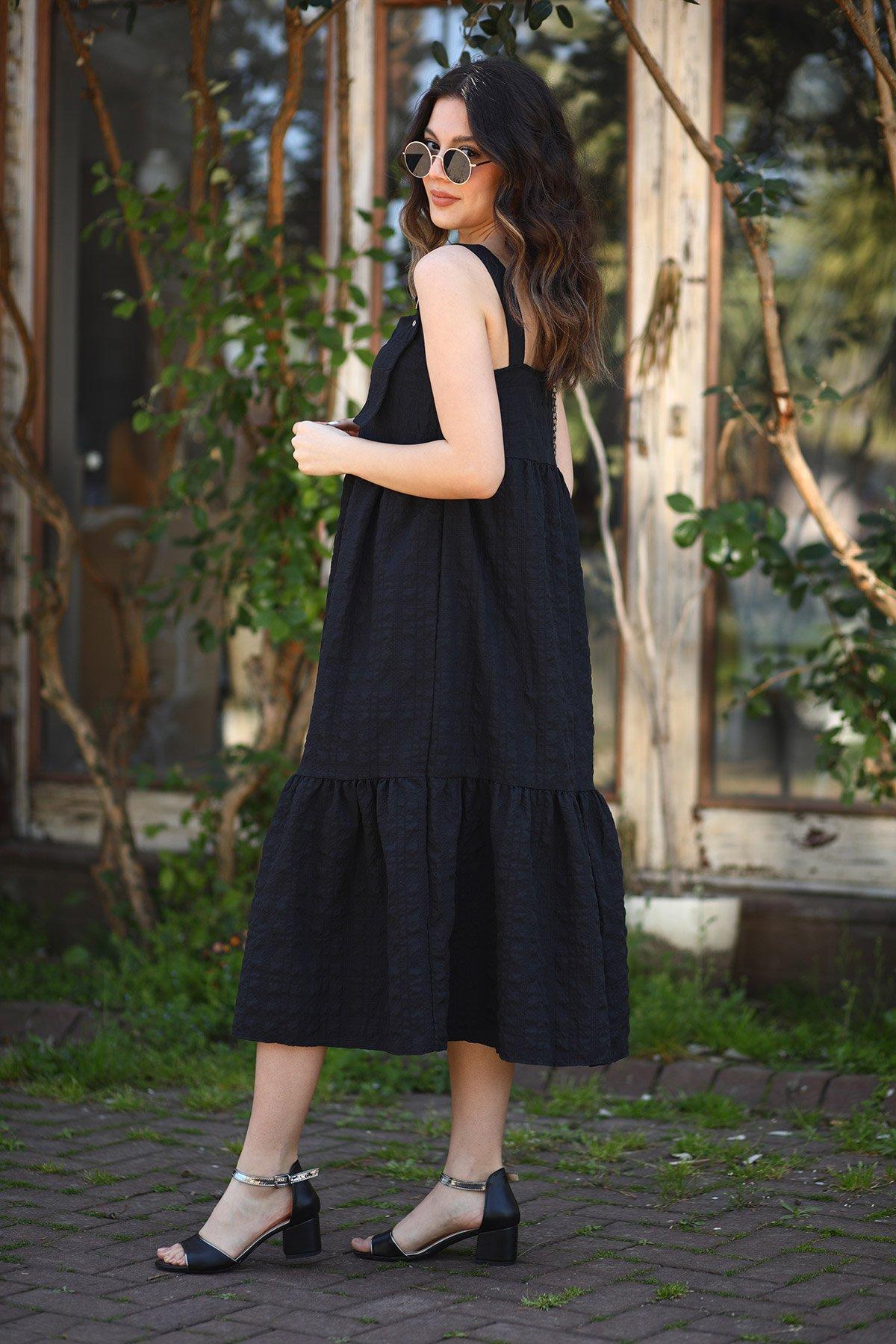 Kemer Askılı Elbise