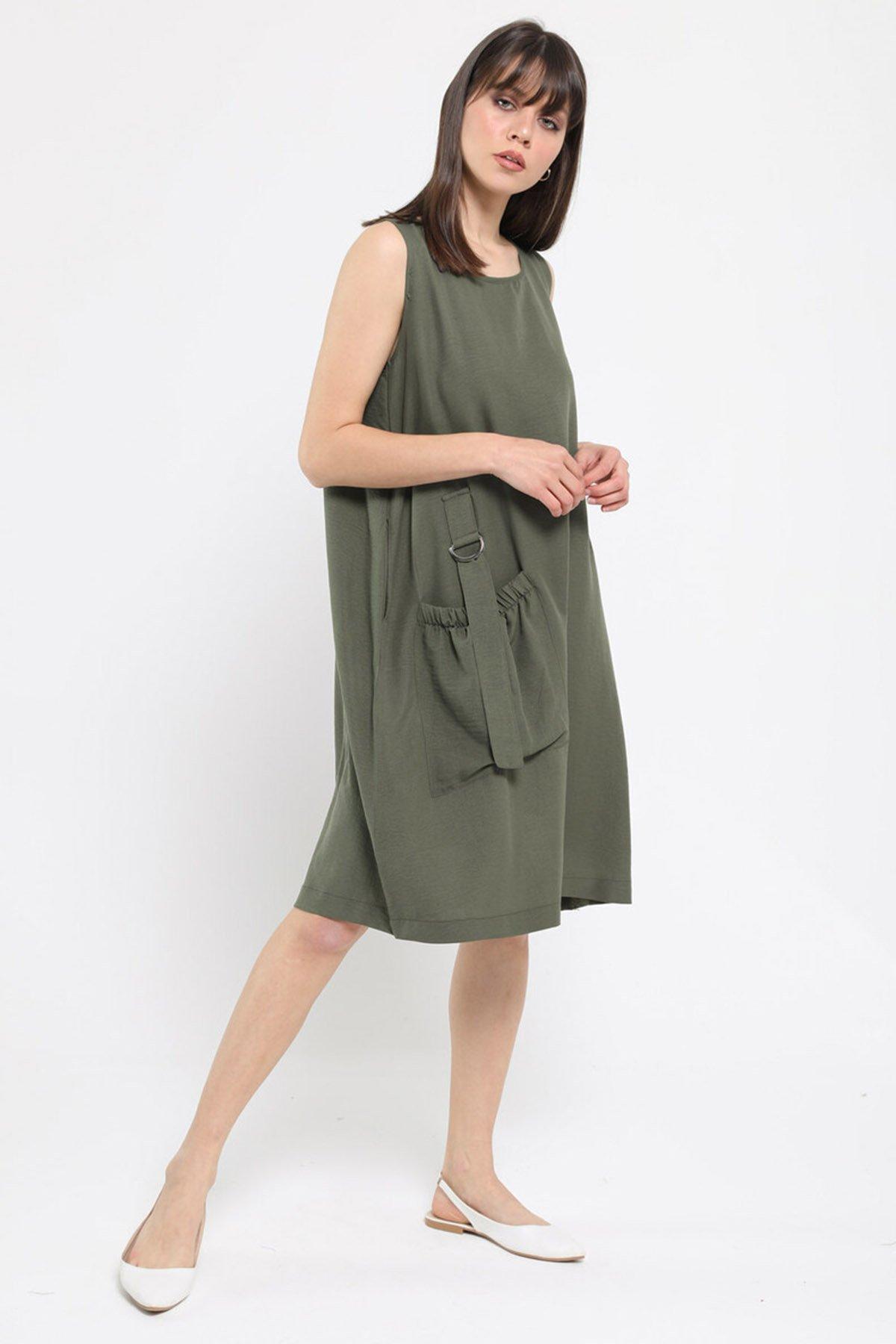 Torba Cepli Sıfır Kol Elbise