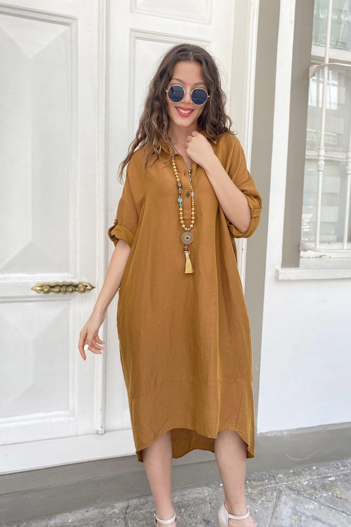 Sırt Halkalı Tensel Elbise