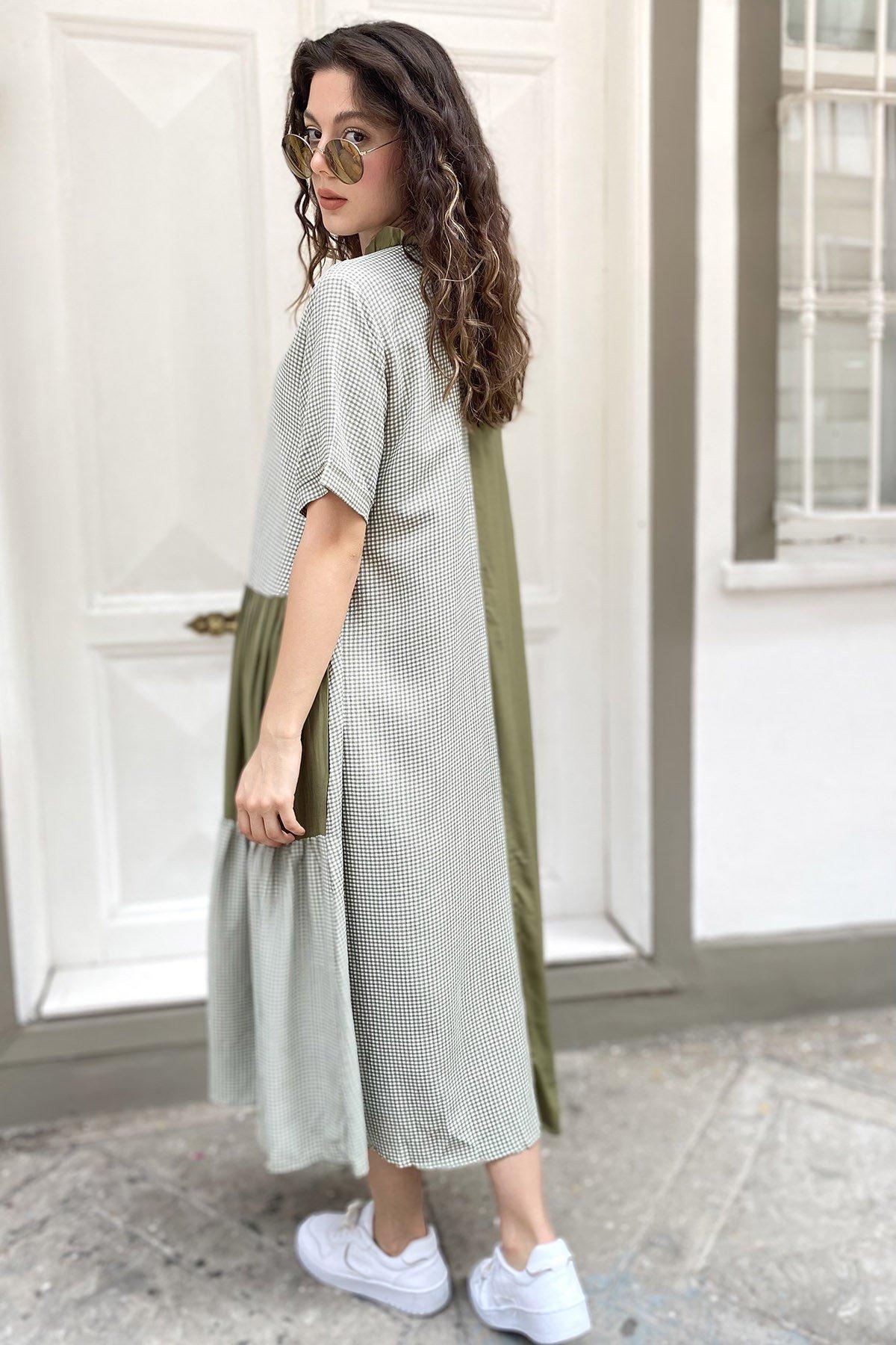 Fermuarlı Pötikare  Elbise