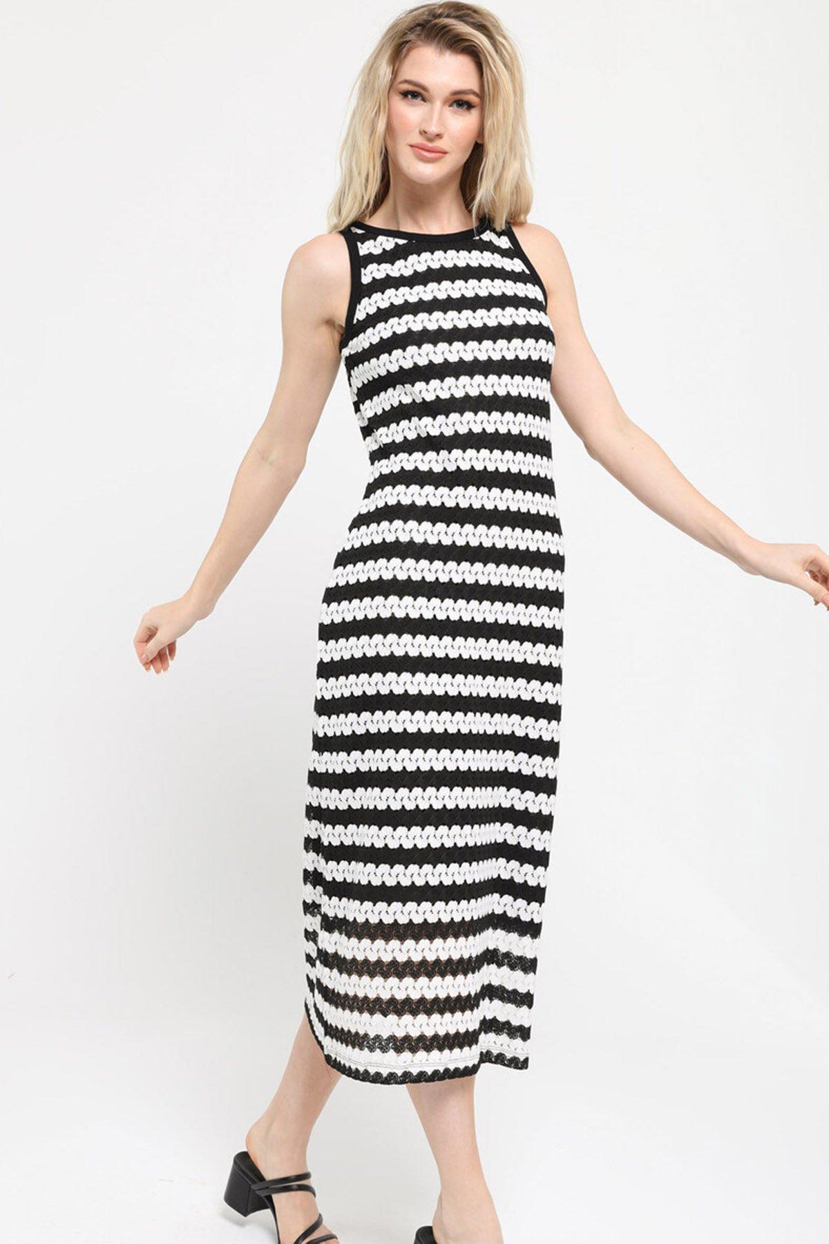 Sıfır Kol Güpür Elbise