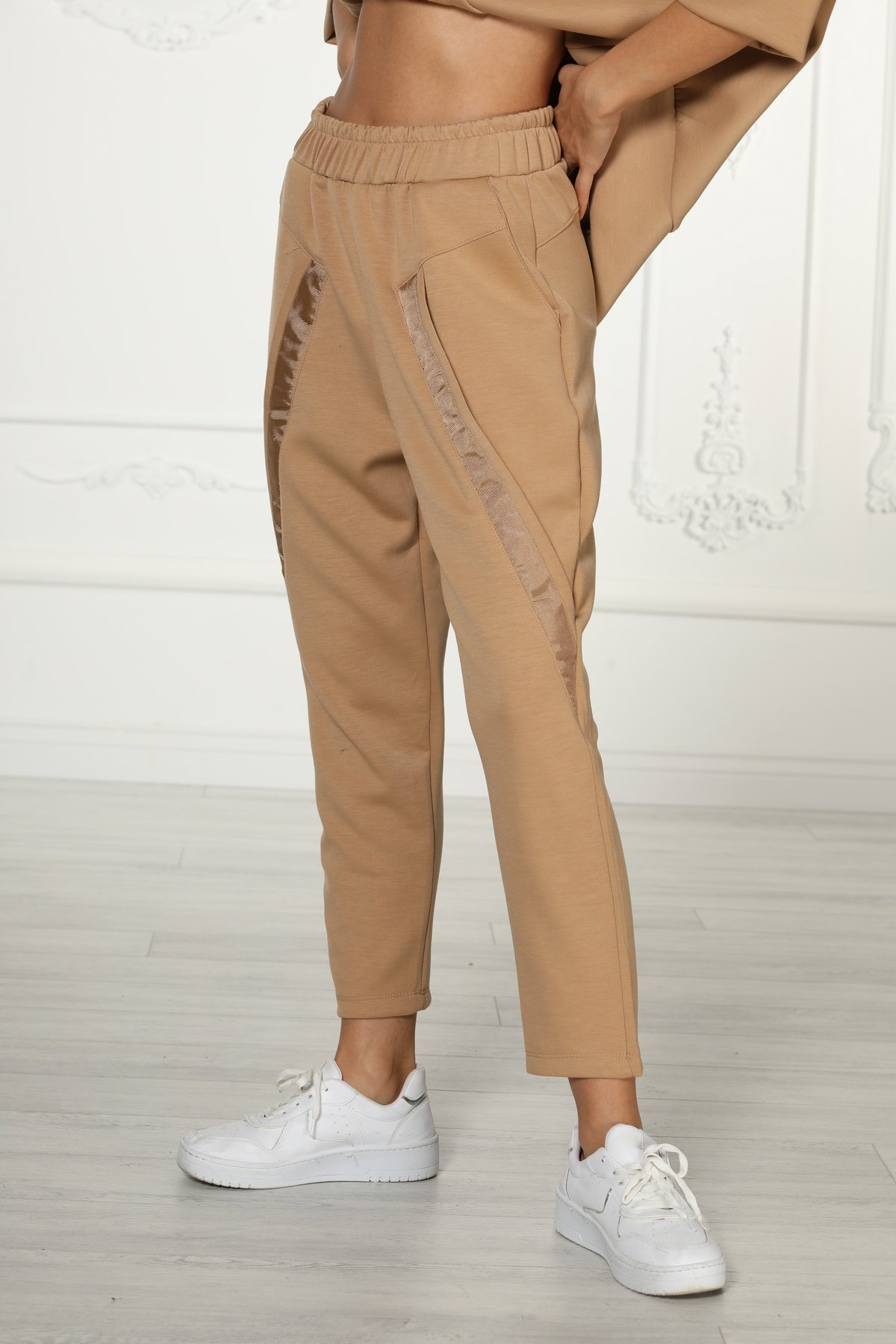 Cepli Şeritli Pantolon