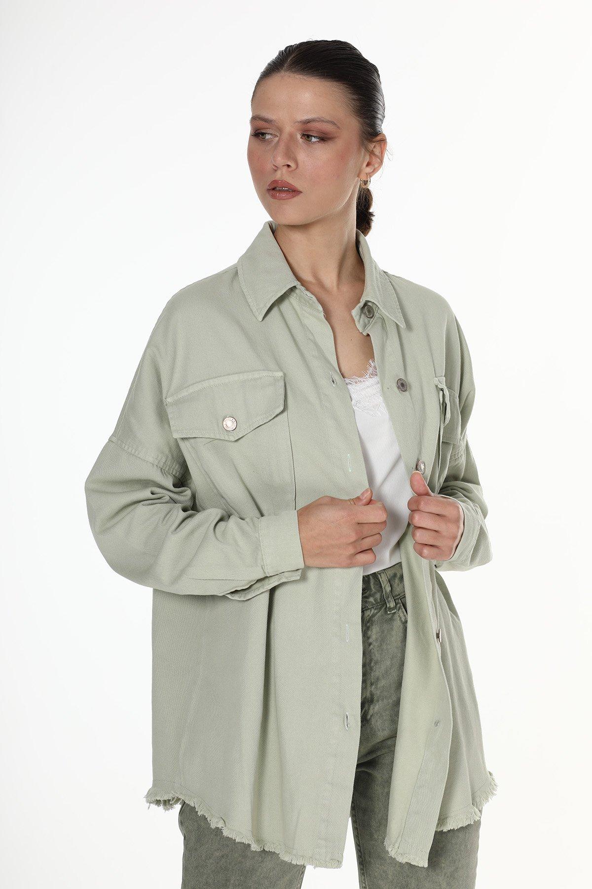 Cepli Saçaklı Ceket