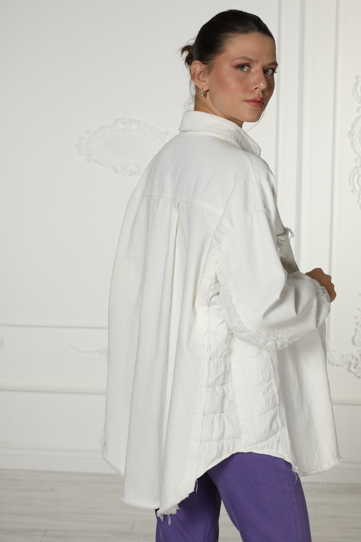Garnili Yıkamalı Ceket